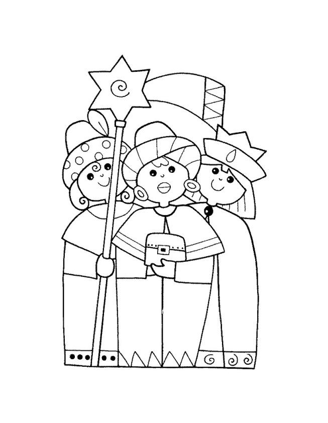 La Navidad Dibujo Para Colorear Reyes Magos