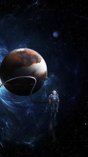 Pluto & Astronaut Mobile HD Wallpaper