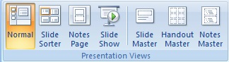 View Tab MS PowerPoint 2007