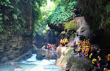 berangkat body rafting menuju green canyon