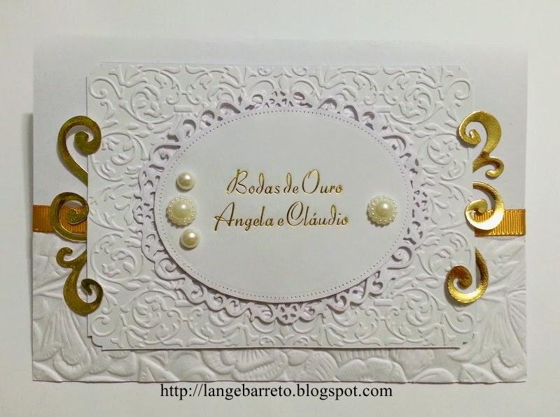 Cartão Bodas de Ouro