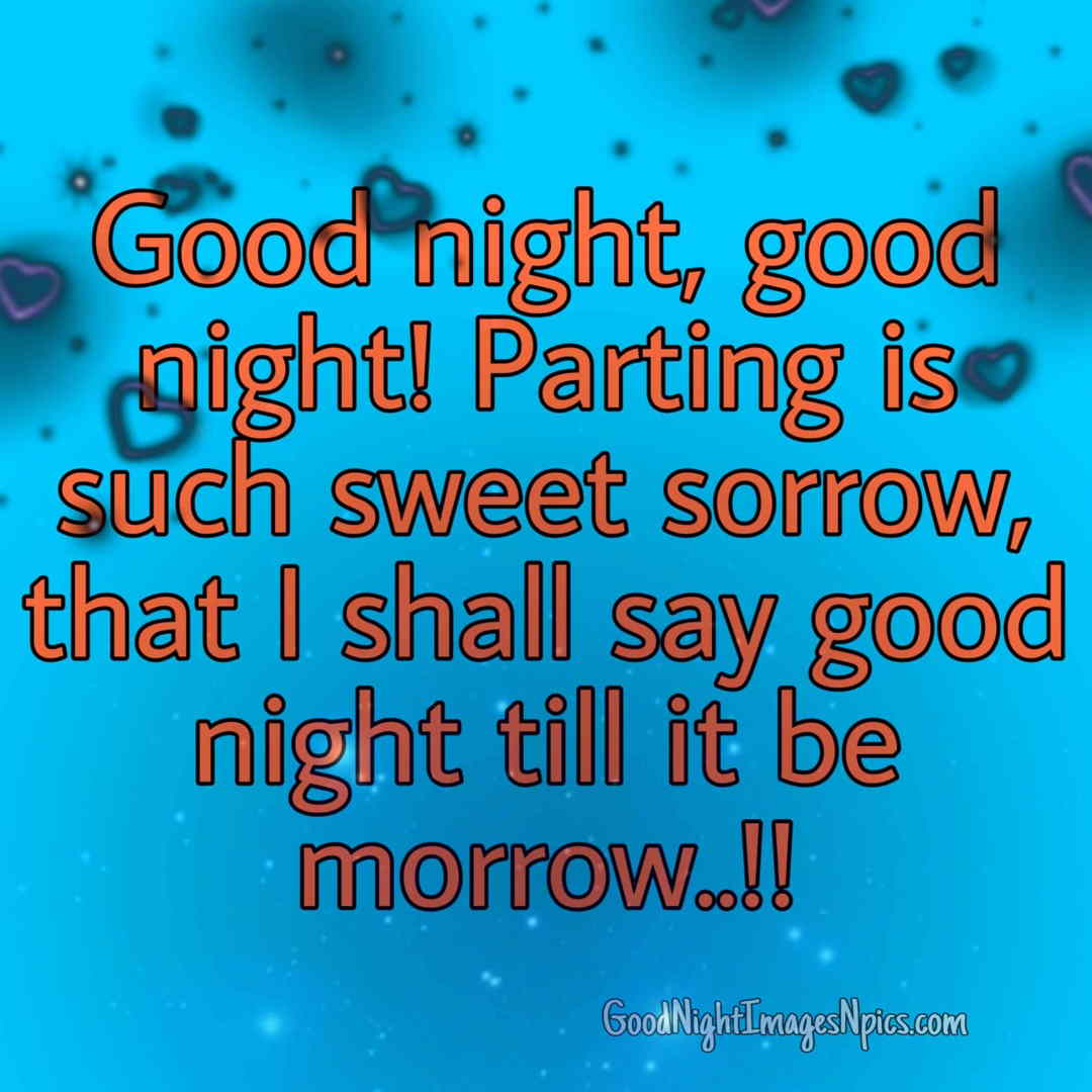 Good Night Messages Love Images