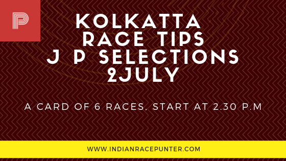 Kolkatta Race Tips 2 July