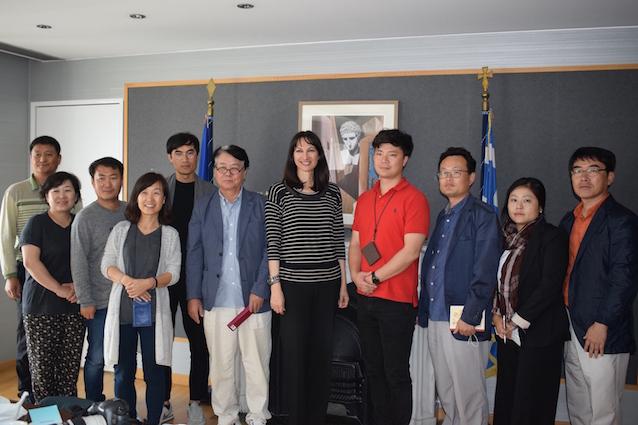 Νοτιοκορεάτες δημοσιογράφοι στην Αργολίδα