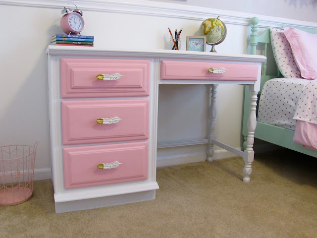 chalk painted desk
