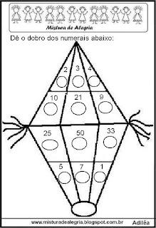 Atividade de matemática festa junina
