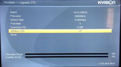 mematikan OTA Upgrade Receiver K-Vision  Bromo C2000