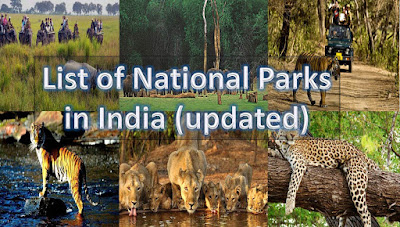Updated List of National Parks in India 2019