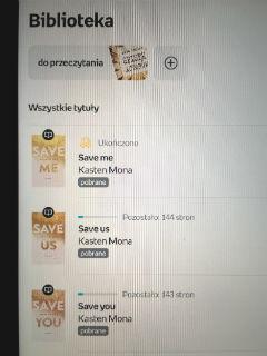 """Save me"" Mona Kasten, czyli 1/3 za mną, fot. paratexterka ©"