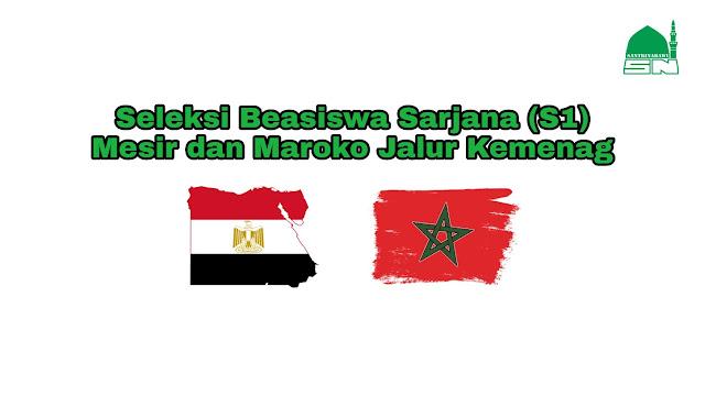 Seleksi Beasiswa Sarjana (S1) Mesir dan Maroko Jalur Kemenag