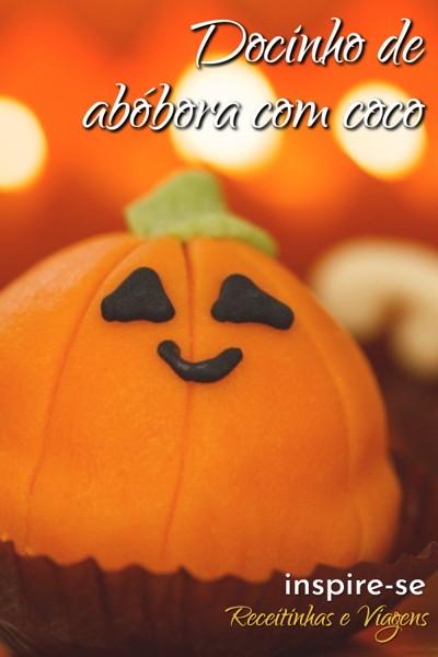 #Halloween pede docinhos de abóbora, e nada melhor do que juntar o coco para complementar o docinho. #Receitas #Docinhos