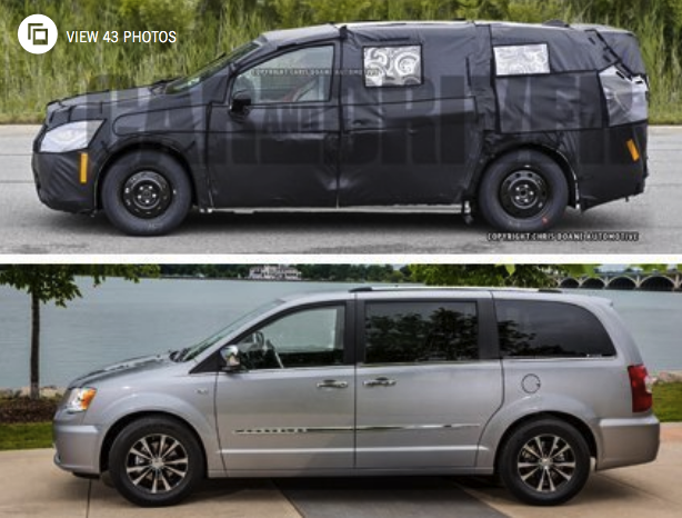 2019 Chrysler Town & Country Spy Photos Review  Cars Auto