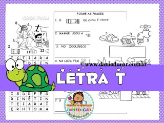 Atividades de alfabetização, atividades do alfabeto, Letra T,