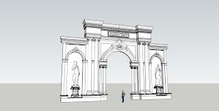 FIle sketch up mẫu cổng cổ điển
