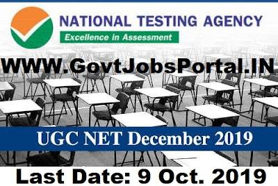 UGC NET December 2019 Notification