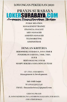 Info Lowongan Kerja Surabaya di Gedung Fraxis Juli 2020