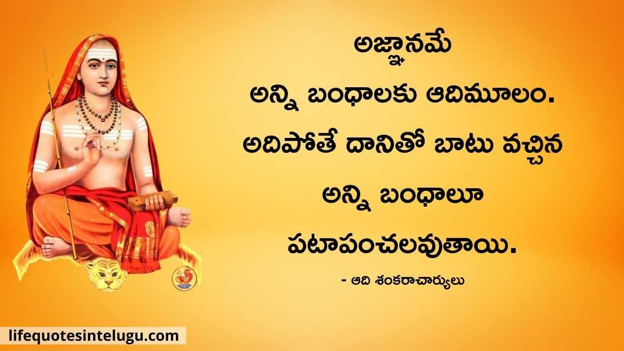 Adi Shankaracharya Quotes In Telugu