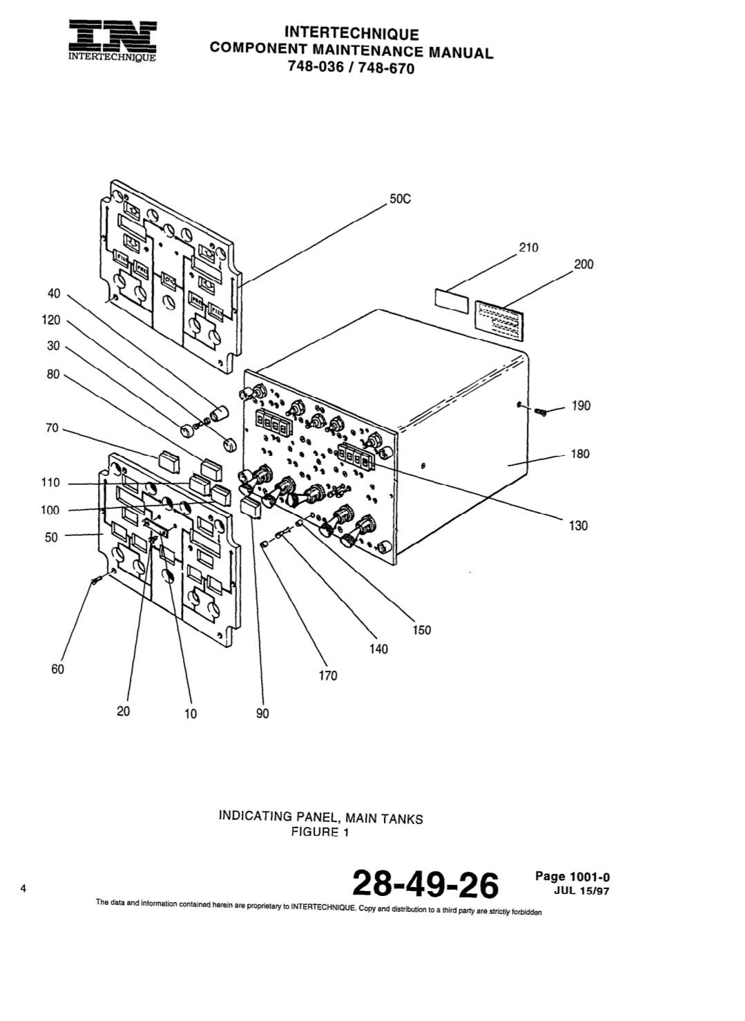 PN. 748-039 / 748-670 fuel control panel