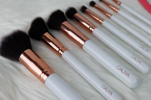 brushes, review, makeup brushes, caliya cosmetics