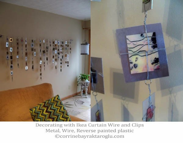 Reusing Plastic For Reverse Painting Attached To Metal