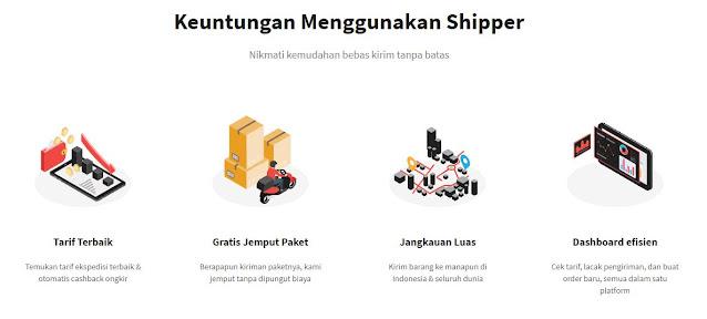 keuntungan pakai shipper