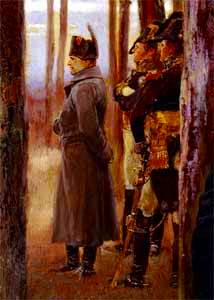 Napoleón y sus generales, detalle de El Trofeo de los 4os Dragones