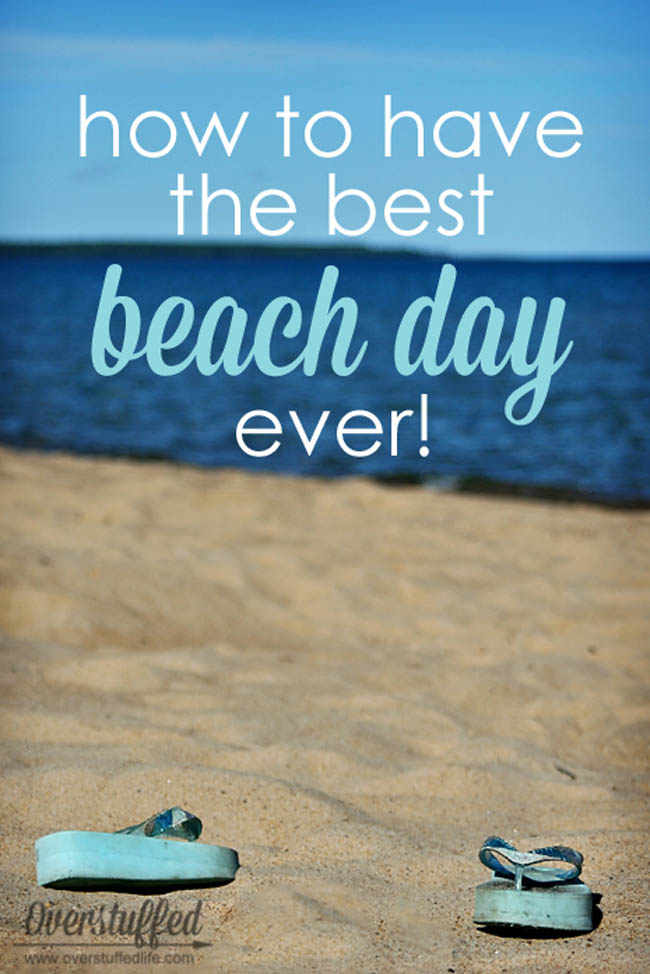 Wondering what to bring to the beach for a perfect beach day? These six tips will make sure you know exactly how to plan a beach day with your family and really enjoy your day at the beach!