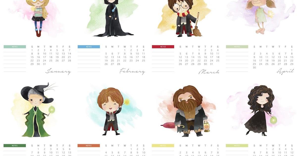Free Printable 2017 Harry Potter Calendar. - Oh My Fiesta ...
