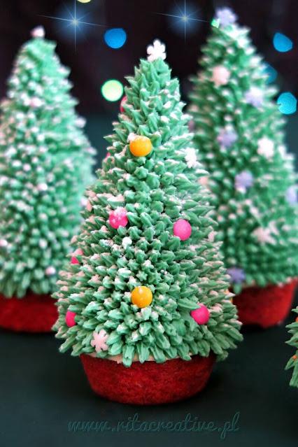 świąteczne babeczki choinki