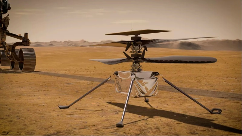 Tim JPL NASA Meluncurkan Helikopter Ingenuity di Planet Mars