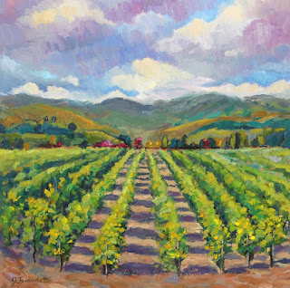 California Winery painting by Jennifer Beaudet California artist