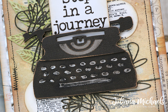 The First Step by Juliana Michaels featuring Tim Holtz Sizzix Retro Type Bigz Die