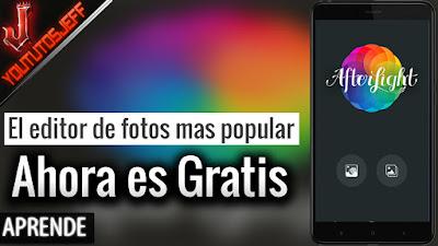 El editor de fotos mas popular ahora es gratis en Android - Afterlight