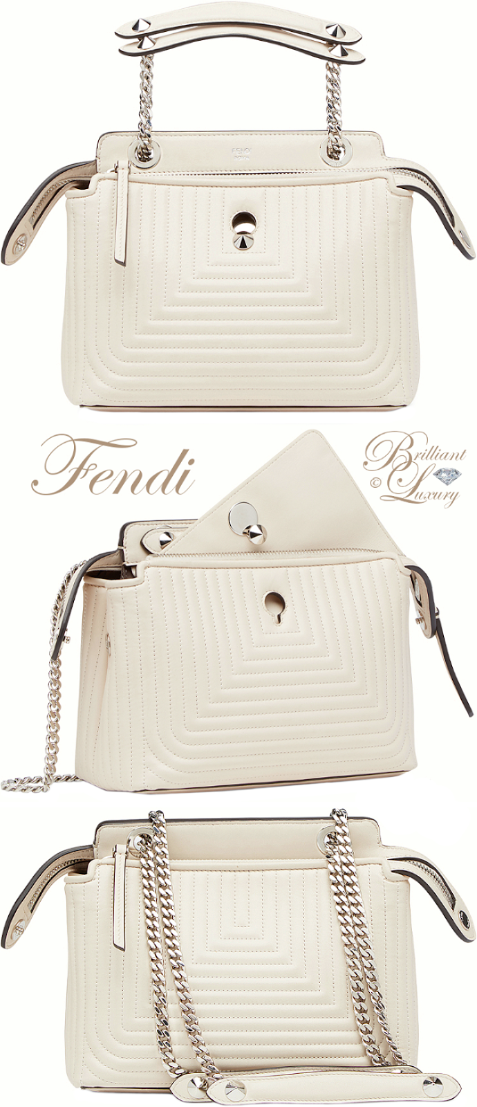 Brilliant Luxury ♦ Fendi Dotcom Click Handbag