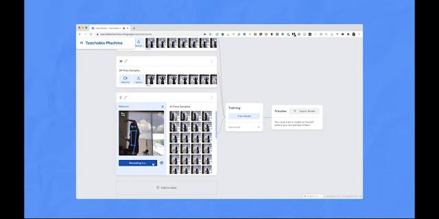 Google Teachable Machine Human pose estimation: Pose c