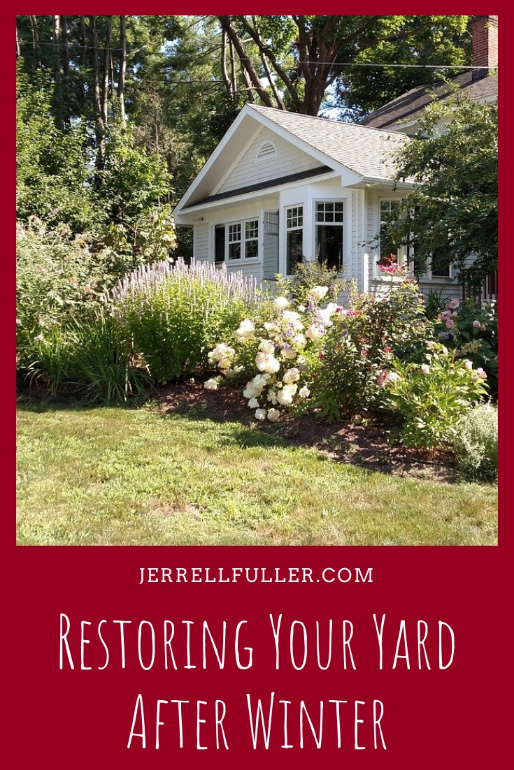 Restoring Your Yard After Winter Pinterest Image