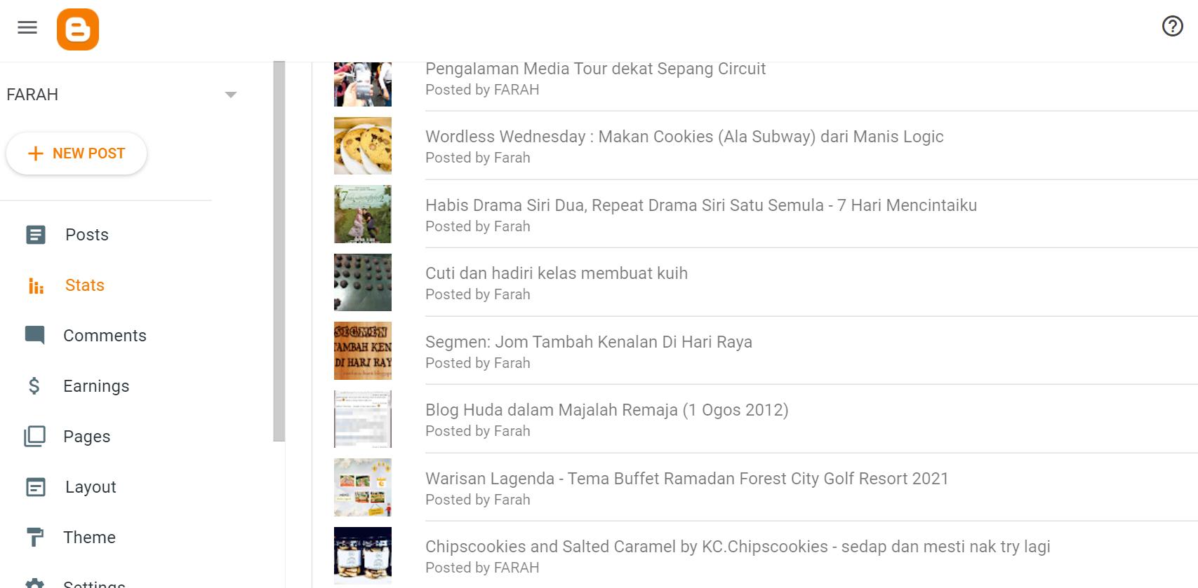 Top Entry - Bulan 7 entry blog byfarahh penuh dengan makanan