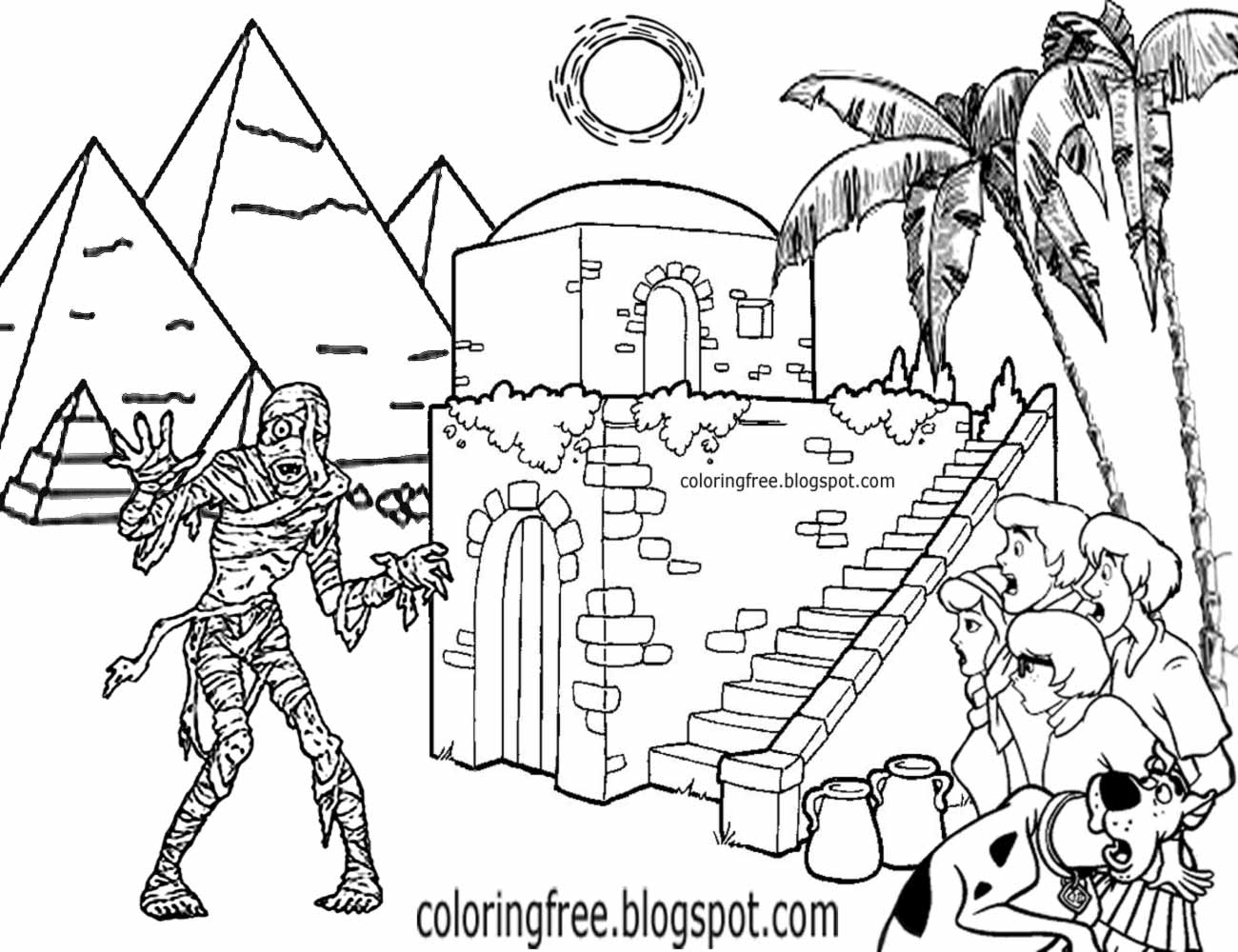 ancient egypt mummy coloring pages eliolera - Ancient Egypt Mummy Coloring Pages