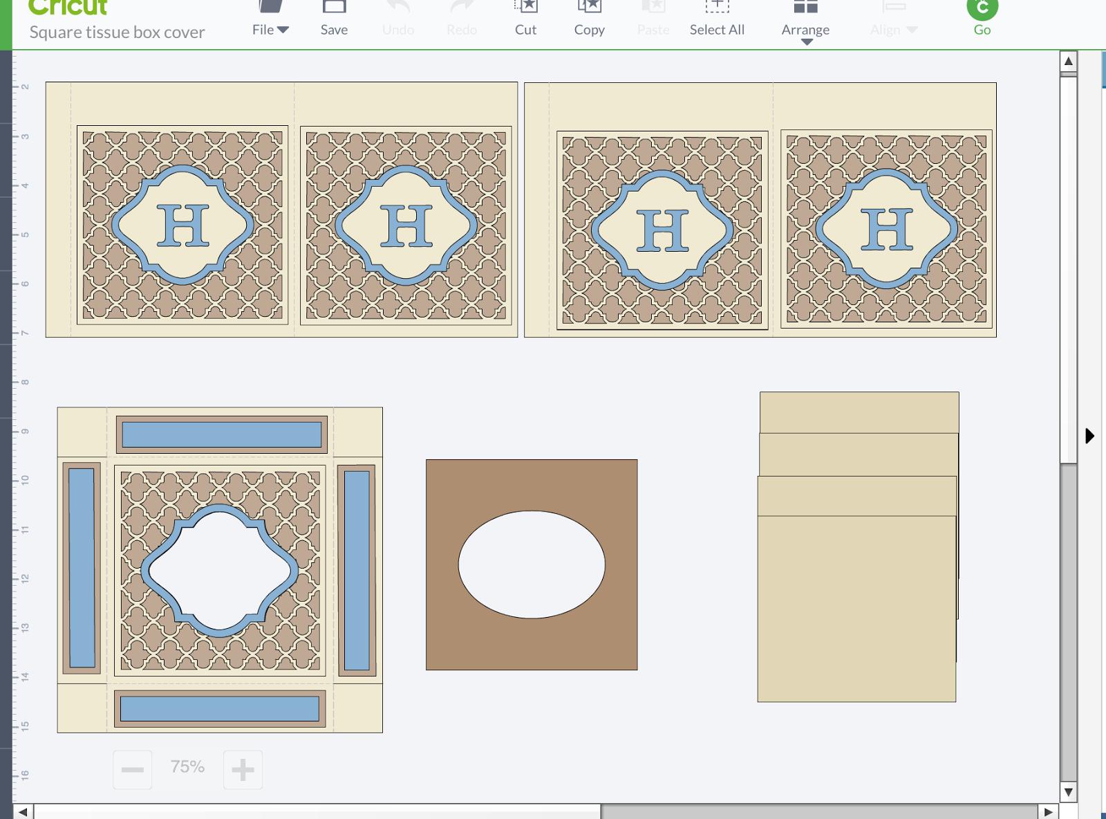 Mimi's Craft Room : Simply Elegant Monogrammed Tissue Box ...