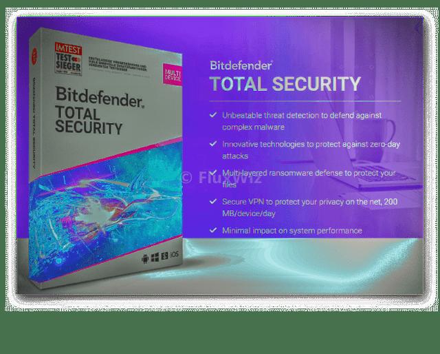 Bitdefender Total Security 6 Months free license