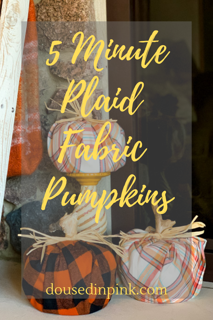 Easy plaid pumpkin DIY tutorial