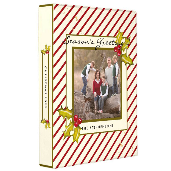 Custom Christmas photo binder