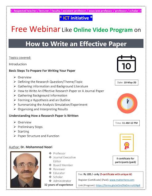 ICT initiative Free Webinar Online Video Program