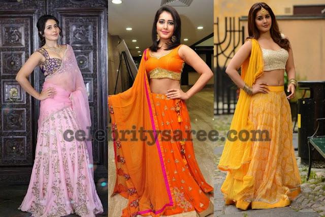 rashi-khanna-latest-half-sarees