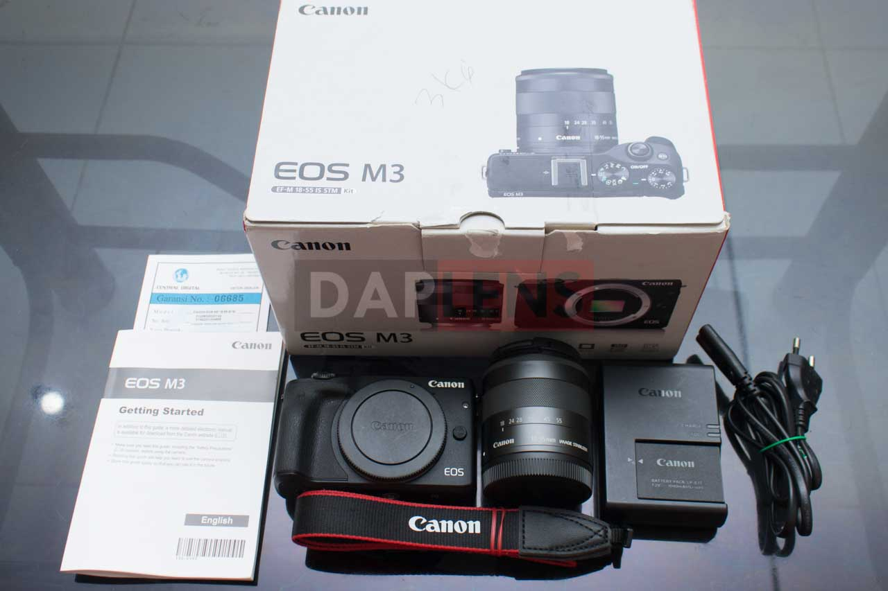Daplens Canon Eos M3 Kit 18 55mm Is Stm Mulus Murah Mirrorless M10 15 45mm Paling  Se Bukalapak