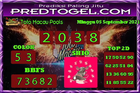 Pred Macau Minggu 05 September 2021