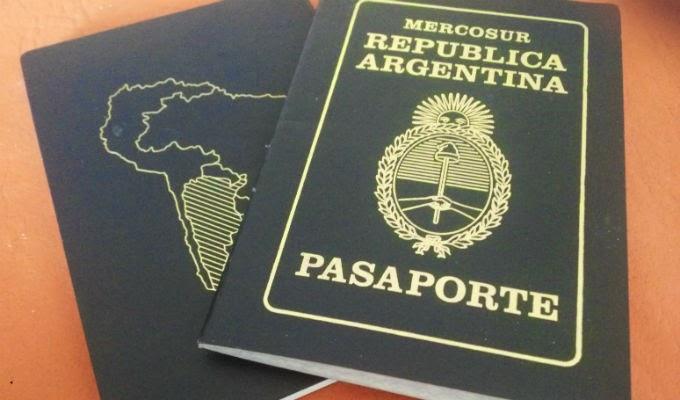 Pasaporte argentino para viajar a Europa