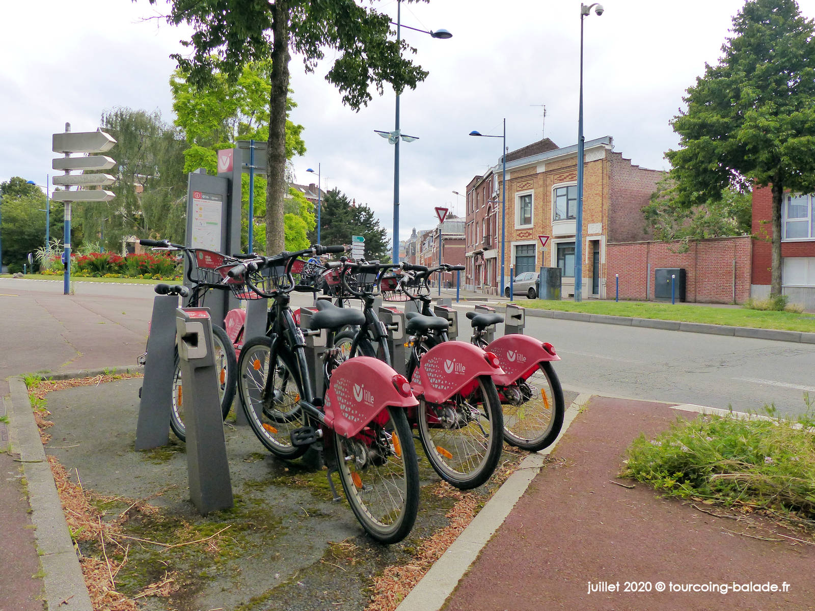 Vélos V'Lille Franklin Roosevelt, Tourcoing 2020