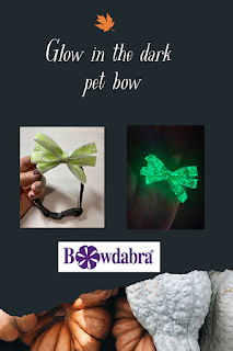 glow in the dark pet bow