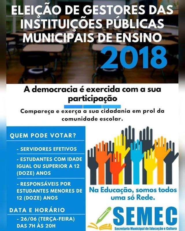 Senador Canedo: Eleição nas escolas